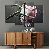 DLRBLHZ Décoration de la Maison Salon Modulaire Photos 4 Panneau Élégant Fleur...