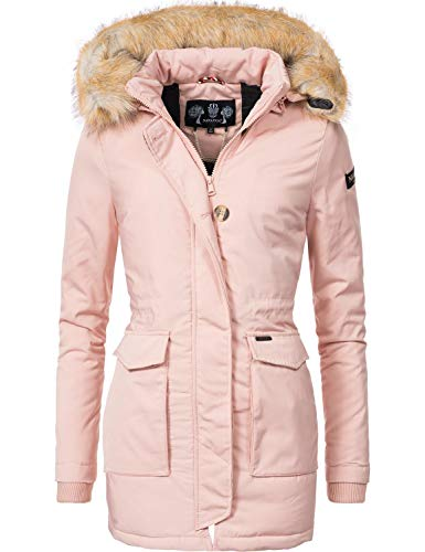 Navahoo Damen Winter-Jacke Winter-Mantel Schneeengel (vegan hergestellt) Rosa Gr. XL