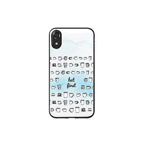 Ok but First Coffee Book - Carcasa de silicona para iPhone 5, 5S, SE, 6, 6S, 7, 8 Plus, X, XR, XS Max 11 Pro Max