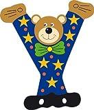 Ulysse Y-Ulysse-letra Y decorativa, diseño de oso