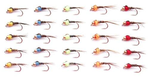 Lakeland Fishing Supplies Juego M2 - Moscas de trucha, diseño de cabeza...