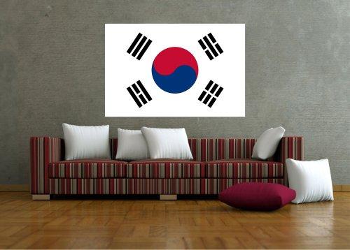 Kiwistar Wandtattoo Sticker Fahne Flagge Aufkleber Korea, Süd 100 x 67cm