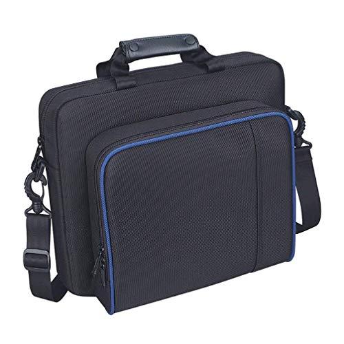 Cabilock Bolsa de viagem para controles de console, jogos, bolsa de mensageiro portátil, bolsa organizadora compatível com PS4 Pro (cinza)