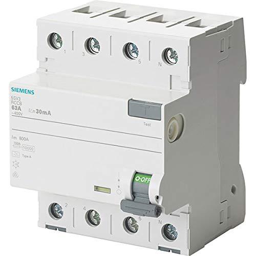 Preisvergleich Produktbild SIEMENS - 5SV33443 FI-Schutzschalter 4-polig Typ F kurzzeitverzögert In: 40 A 30 mA Un AC: 400 V