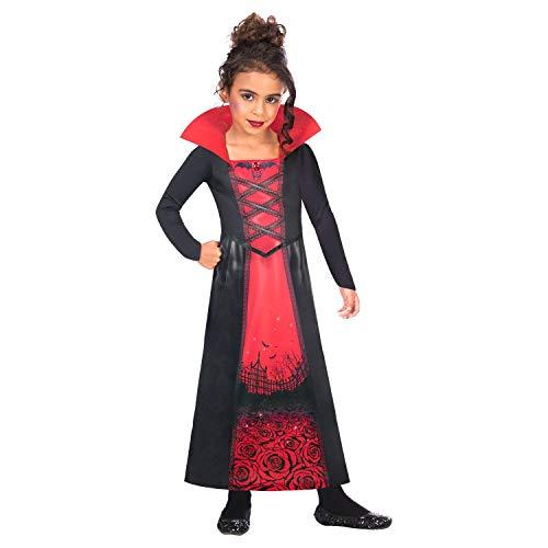 Amscan Sustainable Kids Rose Vampiress Halloween Fancy Dress Costume