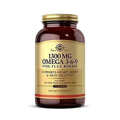 Solgar 1300 mg Omega 3-6-9, 120 Softgels - Fish Oil Supplement - Support for Heart, Joint & Skin Health - Includes Flaxseed & Borage - Contains EPA & DHA - Omega 3 Fatty Acids - 40 Servings