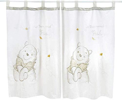 Baby Bedding Design Gray Winnie the Pooh Gardinen (2 Schals)