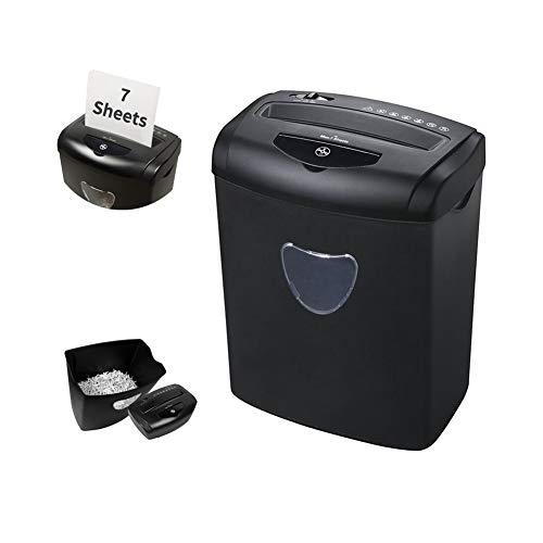 ZXL Elektrische papiervernietiger / papiervernietiger / papiervernietiger voor 7 pagina's, vuilnisemmer met grote inhoud 21 l, automatische kantoor, papiervernietiger voor CD
