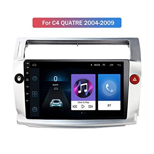 ZhiQin Android 8.1 MP5 Player GPS Navigation para Citroen C4 2004-2009, Pantalla táctil 2.5D, Soporte SD USB WiFi Radio de Coche estéreo Bluetooth Control del Volante