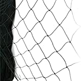WEICHA 50' X 50' Net Netting for Bird Poultry Aviary Game Pens Black 2.4