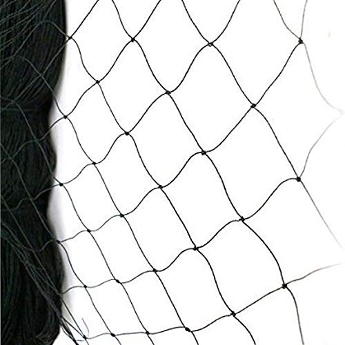 WEICHA 50' X 50' Net Netting for Bird Poultry Aviary Game Pens Black 2.4' Square Mesh Size Anti Bird Net for Fence, Farm, Orchard, Chicken Coop Protect Fruit Tree, Plant and Vegetables from Poultry