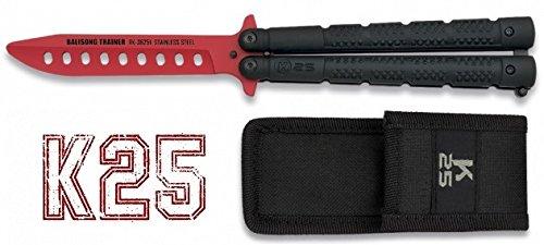 Messer Trainingsbereich K25 schwarz beschichtet. trüb Blatt: 10 cm