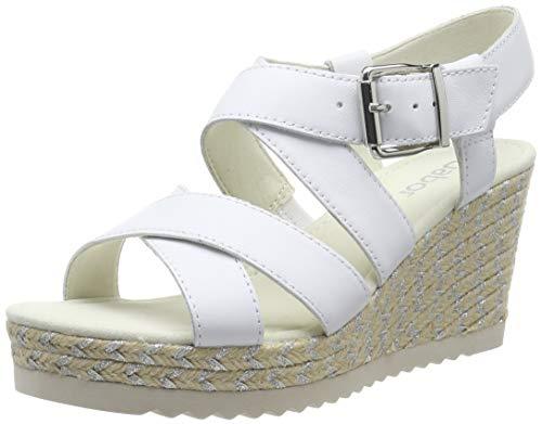 Gabor Shoes Damen Basic Riemchensandalen, Weiß (Weiss 21), 38 EU