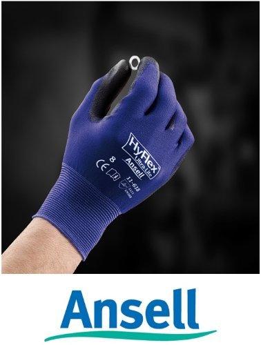 9 Ansell Handsch.HyFlex Ultra-Lite11-618 Gr