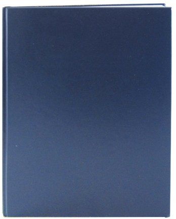 """BookFactory Blue Lab Notebook - Blank Cover - 312 Pages (.25"""" Grid Format) 8 7/8"""" x 11 1/4"""" Blue Cover Smyth Sewn Hardbound Laboratory Notebook (LIRPE-312-LGR-A-LBT1)"""