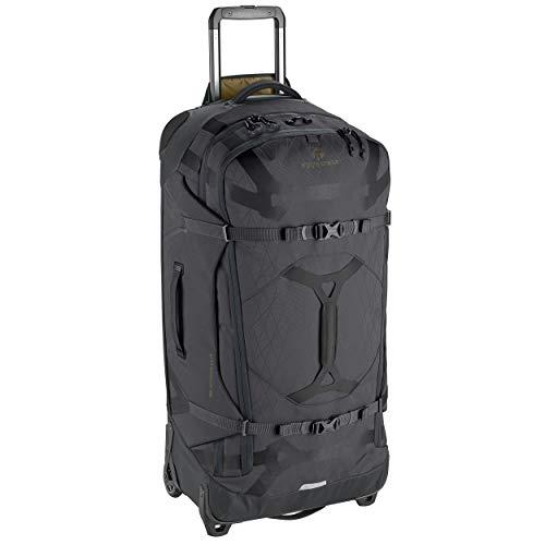 Eagle Creek Gear Warrior Wheeled Duffel in Jet Black, große Reisetasche mit Rollen, Duffle Bag aus recyceltem PET-Ripstop Material, wasserbeständig, ausziehbarer Griff, 110 L, EC0A3XV3281
