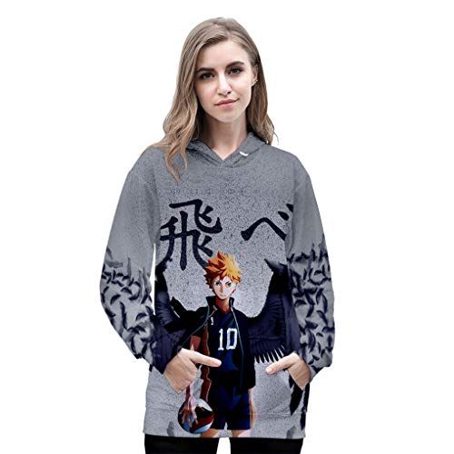 babyhealthy Womens Mens Anime Haikyuu Cosplay Portrait 3D Printed Hoodie Pullover Sweatshirt Uniform