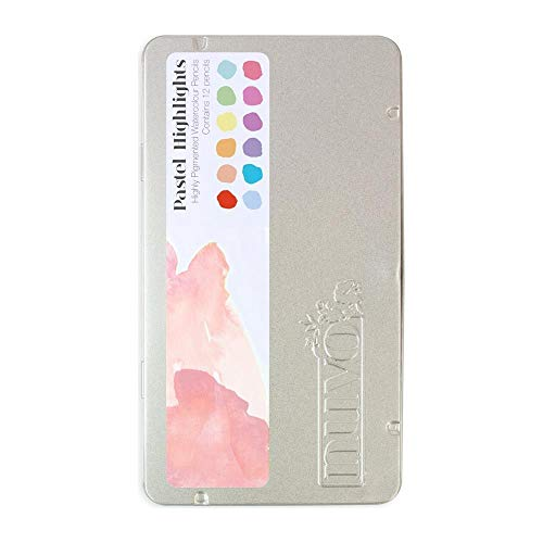 Tonic Studios Nuvo Watercolor Pencils 12/Pkg-Pastel Highlights