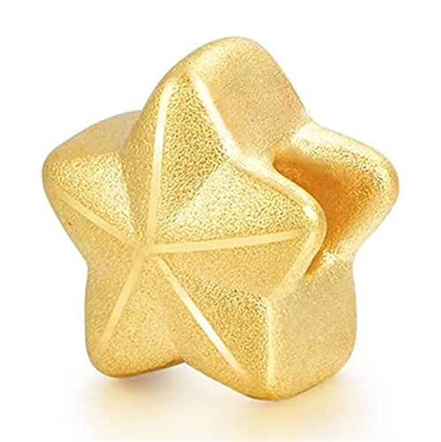 Oro Amarillo De 24 Quilates Estrella De Cinco Puntas Colgante Tu Eres Mi Estrella De La Suerte Multa Joyas Regalos para Mama Esposa Hija Novia (Color : Pendant, Tamaño : 18K Gold Chian)