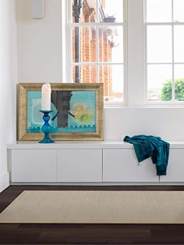 Benuta Wollteppich Uni Beige 60x120 cm | Naturfaserteppich für Wohnzimmer und Schlafzimmer