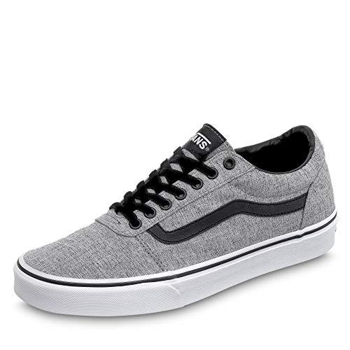 Vans Ward Canvas, Sneaker Hombre, Gris ((Textile) Gray/White Qoq), 43 EU