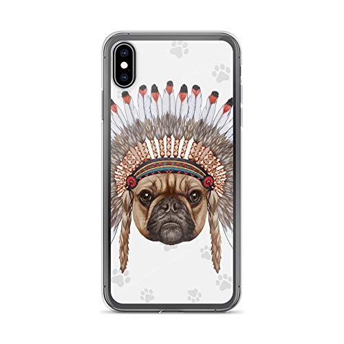 Compatible for iPhone 6/6s Case French Bulldog Wear Indian Hat Boho TPU Anti-Scratch