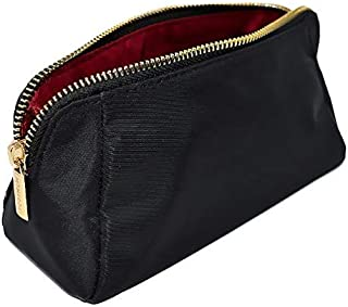 MONTROSE Small Nylon Cosmetic Makeup Bag for Accessories & Toiletries, Black