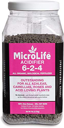Organic Fertilizer Acidifier (For Acid Loving Plants) Professional Grade By MicroLife Granulated (6-2-4) 7 LB