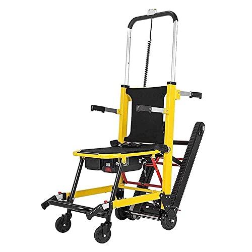 XJZHANG Elektrischer Treppensteiger Rollstuhl Treppenstuhl Zum Klettern Auf Raupen Und Treppen, Klapptreppen-Evakuierungsstuhl Mit Batteriebetrieb,Power Crawler