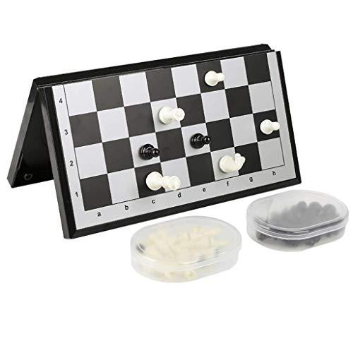 SHBV Juego de ajedrez magnético Juegos de ajedrez para Adultos con Almacenamiento Adecuado para niños y Adultos