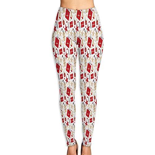 Florasun Patrón de las Mujeres Pantalones de Yoga Suave Control de Barriga Leggings de Secado Rápido Casual Pantalones