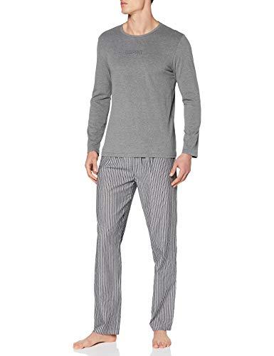 ESPRIT Bodywear Herren XAVY NW OCS Pyjama Longsleeve Pyjamaset, Anthracite (010), L