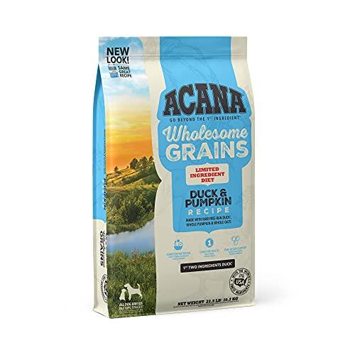 Acana Wholesome Grains Dry Dog Food, Limited Ingredient Diet, Gluten Free, Duck & Pumpkin, 22.5lb