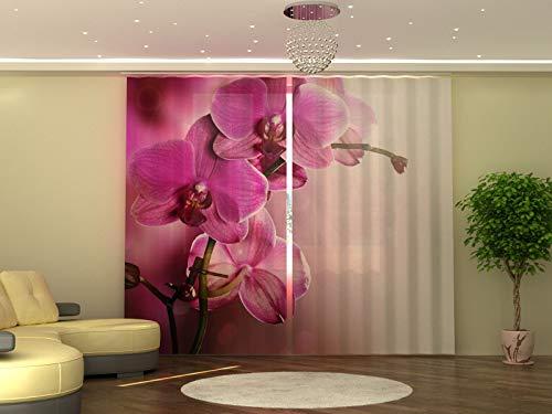 Wellmira - Tenda con Stampa Fotografica, 245 x 290 cm, Motivo: Orchidee