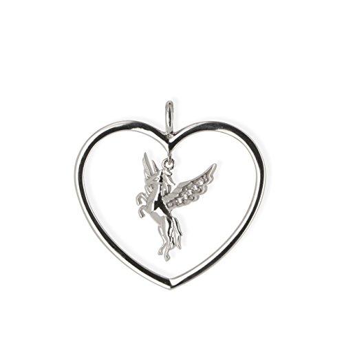 Angelsvoice Anhänger Einhorn - Engel der Freiheit Silber rhodiniert mit Zirkonia AA1026 Ø 30 mm