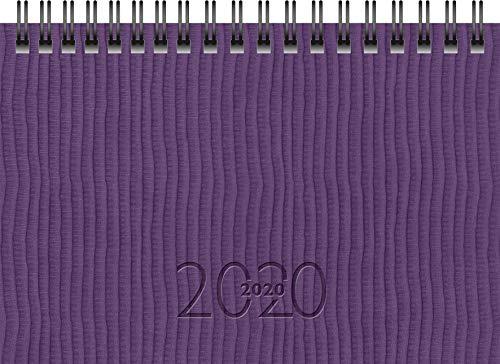 rido/idé 701223601 Taschenkalender/Plankalender TM 17/contacter (2 Seiten = 1 Woche quer, 153 x 87 mm, Kunstleder-Einband Tejo, Kalendarium 2020, Wire-O-Bindung) violett