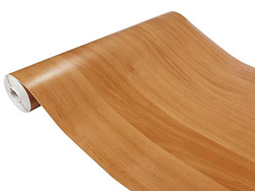 DecoMeister Klebefolien in Holz-Optik Holzfolien Deko-Folien Holzdekor Selbstklebefolie Möbelfolie Selbstklebend Holz-Maserung 45x100 cm Erle Hell