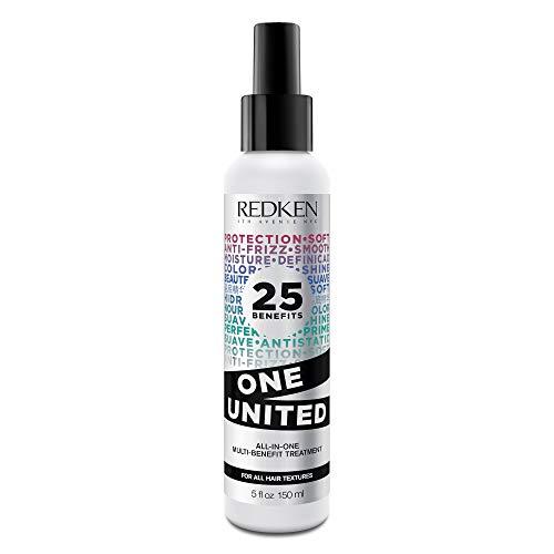 Redken One United Multi-Benefit-Treatment, Pflege-Spray mit Hitzeschutz, Anti-Spliss Haarpflege, schützt & entwirrt, alle Haartypen, 150 ml
