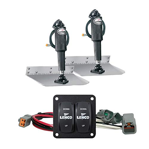 Photo of silver and black colored Lenco Marine Standard Electric Trim Tabs