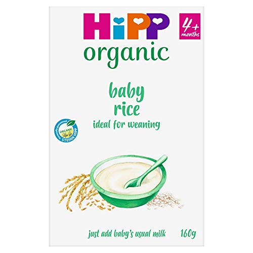 HiPP Organic 100% Baby Rice 4+ Months 160g (Pack of 4)