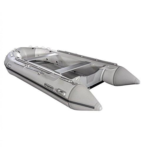 FIX-KRAFT Schlauchboot Angelboot Motorboot Ruderboot Boot 4 m weiss/gr Aluboden