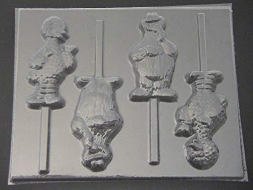 Yellow Bird Cracker Monster Chocolate Lollipop Candy Mold