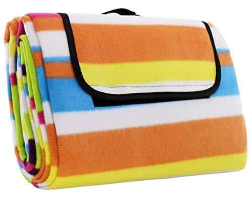 Picknick Decke Fleece in der Größe: ca. 135 x 175 cm und im Trend Design: Streifen