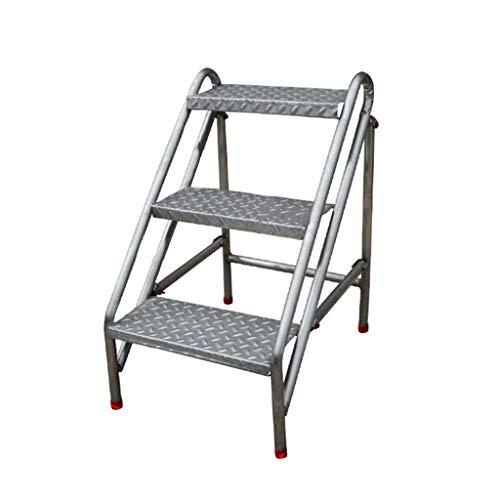 GZQDX Plegables industriales 3 Escalera, Escalera de heces for el hogar Inoxidable escaleras de Tijera de Acero for Adultos, Inicio Herramienta for el jardín de Altas Prestaciones