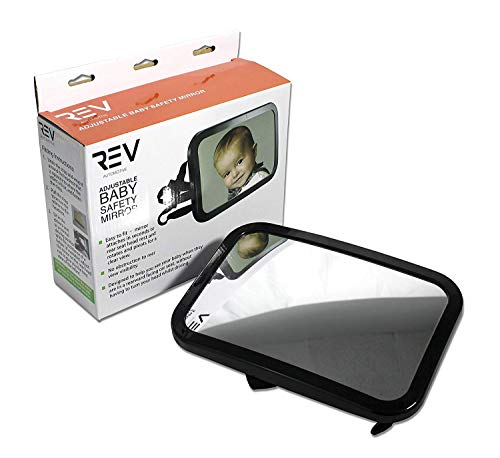 VViViD Headrest Mounted Rear View Adjustable Backseat Baby Safety Mirror - 9 Inch by 5.75 Inch