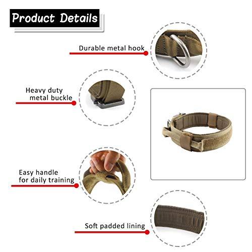 Yunlep Adjustable Tactical Dog Collar