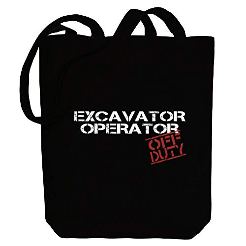 Idakoos Bagger-Operator Off Duty Schablone Canvas Tote Bag 26,7 x 40,6 x 10,2 cm