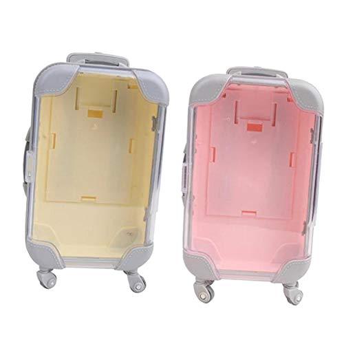 chiwanji 2X Maleta de Plástico Bonita para Equipaje, Compatible con Muñecas de Niña de 18 Pulgadas, Juguetes para Niños