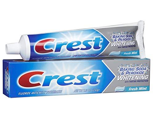 Crest Pasta de dientes de menta fresca (bicarbonato de sodio y blanqueamiento de peróxido con protección contra el sarro) 230G (8,2 Oz)