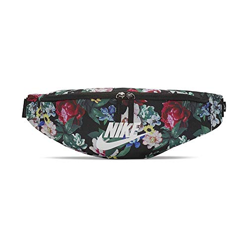 NIKE Heritage Hip Pack-All Over Print Cinturón, Unisex Adulto, Negro/Black/Seda, Talla única